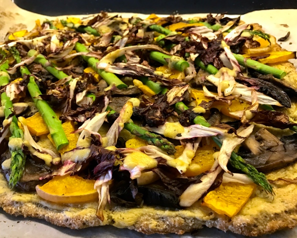 When truffle met mushroom and we made a pizza
